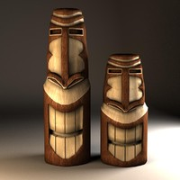 Wood Tikis