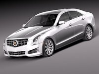 3d model cadillac ats 2013 luxury