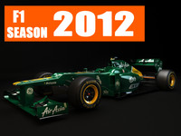 3d model f1 caterham ct01