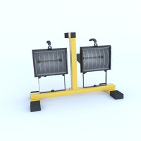 3d industrial halogen lamp