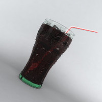 coca cola glass 3d model