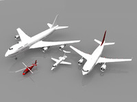 obj airplanes grouped