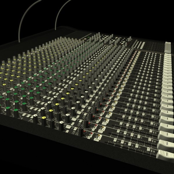 3d mixer model - Audio Mixer... by chubbspet