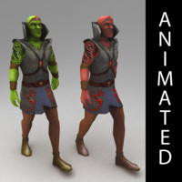 3d orc mage
