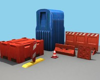 Plastic Roadblock Set