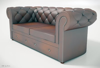 ChesterField sofa three pieces of furniture