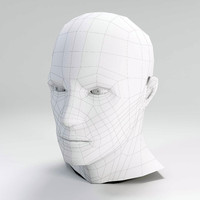 free basic male head 3d model