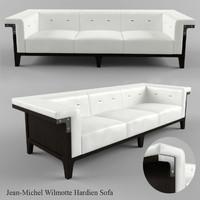 3ds max jean-michel wilmotte hardien sofa