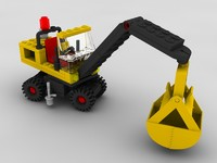 toy bulldozer lego bricks 3d model