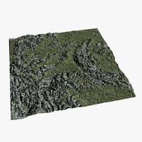 games terrain 3d model