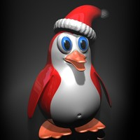 3d christmas penguin rigged