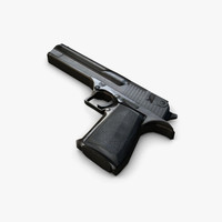 Low poly desert Eagle Magnum gun