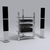 hi-fi stereo 3d max