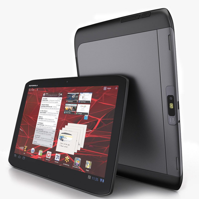 3d motorola xoom 2 tablet model. Black Bedroom Furniture Sets. Home Design Ideas