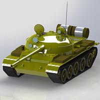 3d model artillery tank military