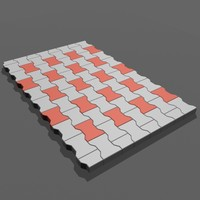 3d model paving stones