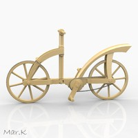 3dm wooden bicycle
