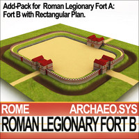 Roman Legionary Fort B Add Pack Fort A Rectangular Plan