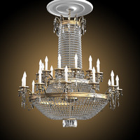 3d big chandelier crystal