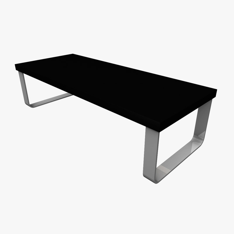 3d model coffee table rounded legs for Coffee table 40 x 24