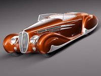 3d delahaye 1939 antique car model