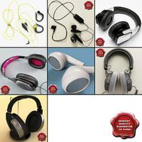 3dsmax headphones earphones modelled