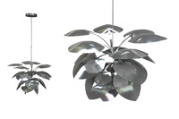 3d lighting leaf model