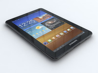 3d samsung p6800 galaxy tab model