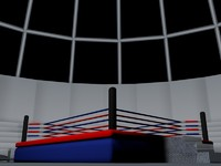 low poly boxing ring