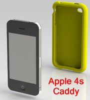 4s Contour Case with iPhone modeled in native SolidWorks 2011