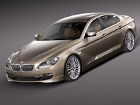 3d bmw 6 coupe sedan model