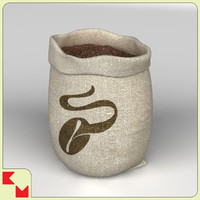 3d coffee sack model