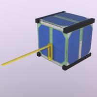 3d model cube satellite