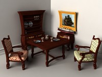 Cartoon look-like furnitures set