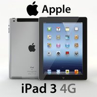 3d model realistic apple ipad 3