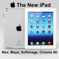 apple new ipad 3d max