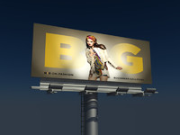 64 Sheet One side 3d billboard model