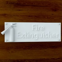 printable print sign stl 3d obj