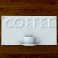 3d model printable print coffee sign
