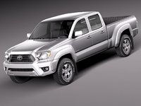 toyota tacoma double cab 3d 3ds