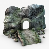 ancient stone entrance 3d 3ds