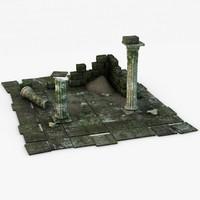 c4d ancient ruins