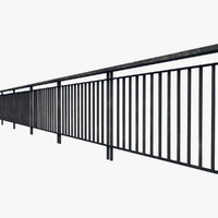 resolution railing fence 3d ma