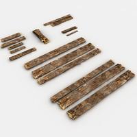 wooden planks 3d 3ds