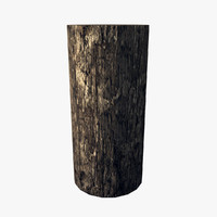 3d model resolution wooden bollard