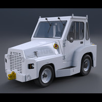 3d tow tractor model