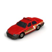 2006 Crown Victoria FIRE sedan - Low Poly