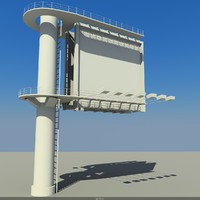 3d model billboard elements citys
