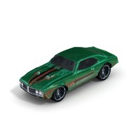 3d model 1967 pontiac firebird 400