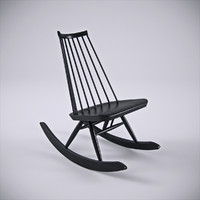 3d model of artek mademoiselle rocking chair
